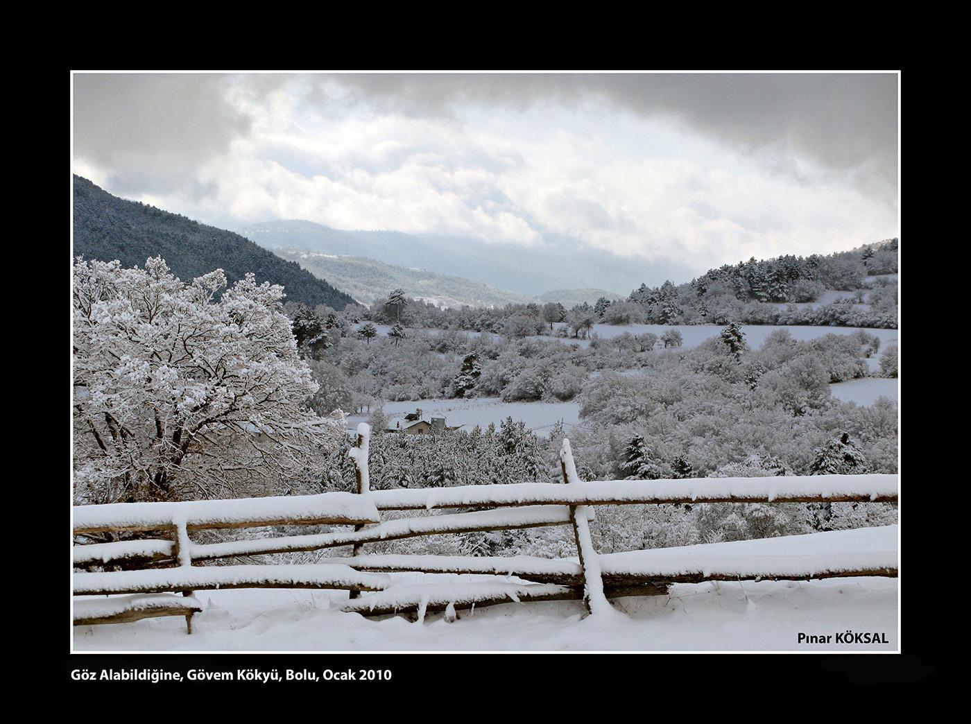 Göz Alabildiğine, Gövem Köyü, Bolu, Ocak 2010
