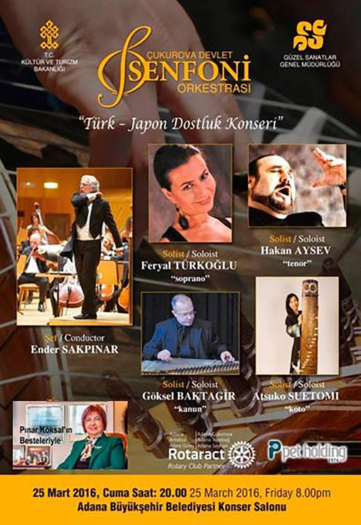 AdanaÇDSO Türk Japon Dostluk Konseri